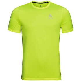 Odlo Element Light Camiseta Manga Corta Cuello Barco Hombre, safety yellow